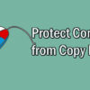 How to Protect your WordPress Content from Copy Paste