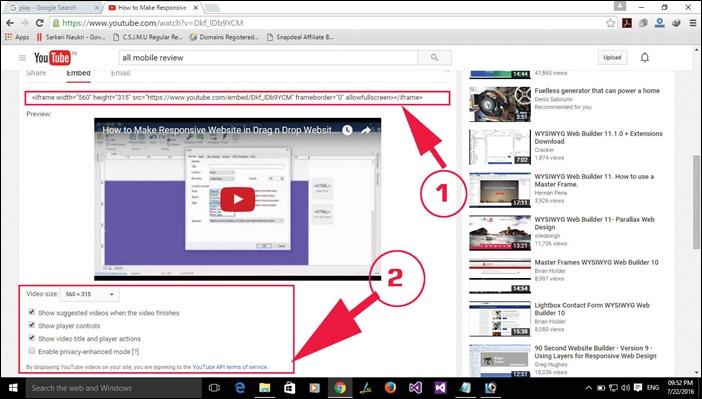 Step 2 Embed Youtube