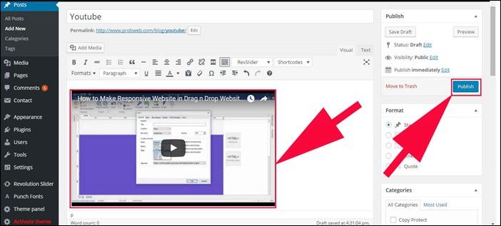Step 4 Embed Youtube
