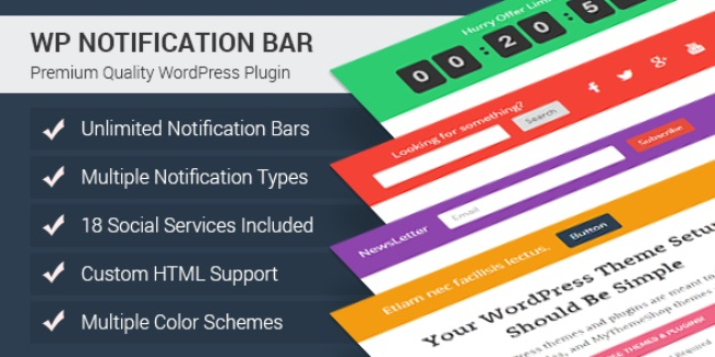 How to add Footer notification bar on WordPress blog