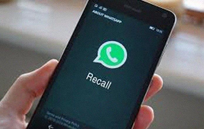 Whatsapp Recall Feature, अब भेजे गए मैसेज को डिलीट कर सकते हैं