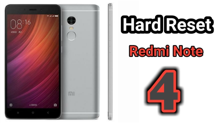 How to Hard Reset Redmi Note 4 and remove pattern or password
