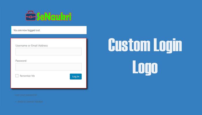 How to Change the Logo of Login Screen on WordPress